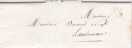 Lettre 1848 Finistère De Landerneau A Landerneau  A Mr Durand - 1849-1876: Classic Period