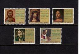 684641353 VATICAN 1970 POSTFRIS MINT NEVER HINGED POSTFRISCH EINWANDFREI SCOTT 487 491 ORDINATION OF POPE PAUL VI 50 ANN - Luxembourg