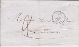 Lettre 1844 Finistère De Brest A Landerneau  A Mr Durand Jeune - 1849-1876: Classic Period