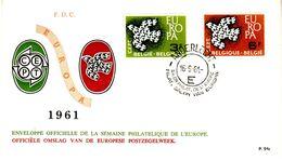 BELGIUM 1961 EUROPA CEPT FDC - Europa-CEPT