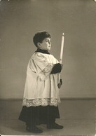 Fotografia Di Chierichetto Con Candela In Mano, Autel Garcon, Altar Boy, Messdiener - Sonstige