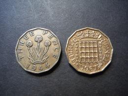 MO19     2 X 3 Pence 1944 Et 1967 - George VI, Elizabeth II - 1902-1971 : Monnaies Post-Victoriennes