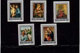 684643303 VATICAN 1971 POSTFRIS MINT NEVER HINGED POSTFRISCH EINWANDFREI SCOTT 504 508 PAINTINGS MADONNA AND CHILD - Luxembourg