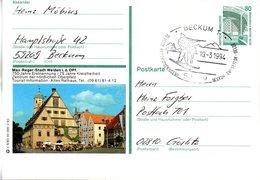 "BRD Bildpostkarte 80 Pf.WSt.Sehenswürdigkeiten Zeche Zollern P151 X 6/83 ""Weiden"" SST 19.3.94 BECKUM 1 - [7] République Fédérale"