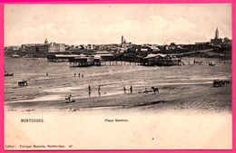 Uruguay - Montevideo - Playa Ramirez - Attelage - Chevaux - Plage - Animée - Ed. ENRIQUE MONEDA N° 47 - Uruguay