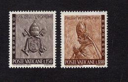 684650815 VATICAN 1966 POSTFRIS MINT NEVER HINGED POSTFRISCH EINWANDFREI SCOTT E17 E18 PAPAL ARMS POPE PAUL VI - Luxembourg
