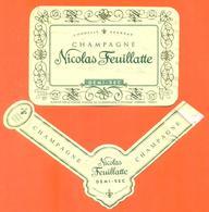 étiquette + Collerette De Champagne Demi Sec Nicolas Feuillatte à Chouilly - 75 Cl - Champagne