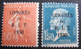 R1680/276 - 1930 - CONGRES DU B.I.T. - N°264 NEUF** + N°265 NEUF* (signé) - Cote : 28,00 € - France