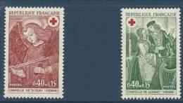"""FR YT 1661 & 1662 """" Croix-Rouge """" 1970 Neuf** - France"""