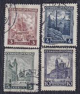 Czechoslovakia 1929/1931 Definitive - Landscapes, Used (o) Michel 291-294 - Tschechoslowakei/CSSR