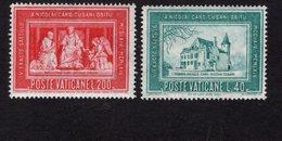 684653050 VATICAN 1964 POSTFRIS MINT NEVER HINGED POSTFRISCH EINWANDFREI SCOTT 395 396 CARDINAL NICOLAUS CUSANUS - Luxembourg