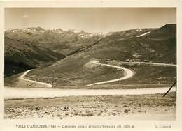 Gd Format :environ 15cms X10cms -ref Y273- Andorre - Andorra - Valls D Andorra -carratera Pujant Al Coll D Envalira - - Andorre
