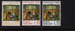 684653626 VATICAN 1964 POSTFRIS MINT NEVER HINGED POSTFRISCH EINWANDFREI SCOTT 397 399 JAPENESE NATIVITY - Luxembourg
