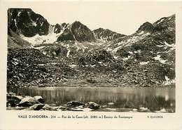 Gd Format :environ 15cms X10cms -ref Y272- Andorre - Andorra - Valls D Andorra -pas De La Casa -estany De Fontnegre - Andorre