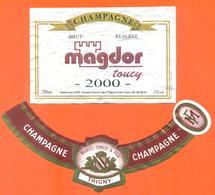 étiquette + Collerette De Champagne Brut 2000 Magdor Toucy Forest à Trigny - 75 Cl - Champagne