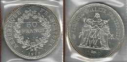 FRANCIA 1979 - Liberté, Égalité, Fraternité - 50 Francs SPL / FDC - Argento / Argent / Silver - Confez. In Bust. (3 Foto - Francia