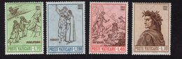 684654577 VATICAN 1965 POSTFRIS MINT NEVER HINGED POSTFRISCH EINWANDFREI SCOTT 410 413 DANTE 41ALIGHIERI - Luxembourg