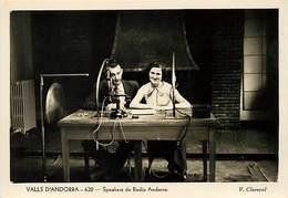 Gd Format :environ 15cms X10cms -ref Y268- Andorre - Andorra - Valls D Andorra - Speakers De Radio Andorra - - Andorre