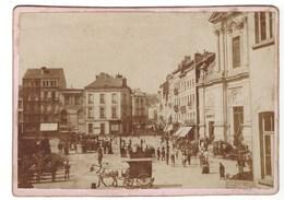 PHOTO BRUXELLES SAINT JOSSE PLACE SAINT JOSSE ANIMEE VERS 1880.   RARE ! - Photographs