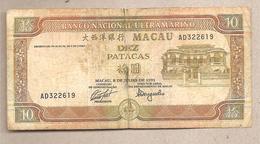 Macao - Banconota Circolata Da 10 Patacas P-65a - 1991 - Macao