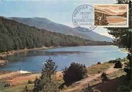 Gd Format :environ 15cms X10cms -ref Y263- Andorre - Andorra -estany D Engolasters -carte Premier Jour-timbre Philatelie - Andorre