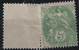 France Type Blanc N°111** Type IB, 5c Coté Non Dentelé, Très Grand Timbre : Spectaculaire...superbe Signé Calves - Varieties: 1900-20 Mint/hinged