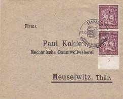 DR Brief Aus Hanau 1943 - Boemia E Moravia