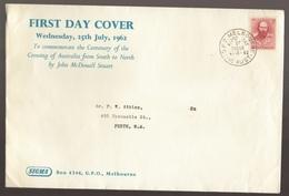 1962 Australia John McDouall Stuart Crossing Of Australia  SIGMA Large FDC - Melbourne Cancel - FDC
