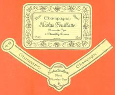 étiquette + Collerette De Champagne Brut Nicolas Feuillatte à Chouilly - 37,5 Cl - Champagne