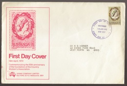 1972 Australia Country Womens Association SIGMA Large FDC - Melbourne Cancel - FDC