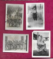 Lot De 4 PHOTOS 9 X 6,5 Cm.. MILITAIRES ZOUANES Du 3 REGIMENT - Guerra, Militari