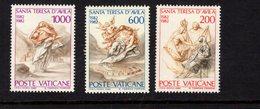 684660520 VATICAN 1982 POSTFRIS MINT NEVER HINGED POSTFRISCH EINWANDFREI SCOTT 710 712 ST TERESA OF AVILA - Luxembourg