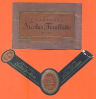 étiquette + Collerette De Champagne Brut Rosé Millésimé 2000 Nicolas Feuillatte à Chouilly - 75 Cl - Champagne