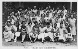 CPA Océanie Tahiti Papeete Ecole Des Jeunes Filles - Tahiti