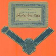 étiquette + Collerette De Champagne Brut Nicolas Feuillatte à Chouilly - 75 Cl - Champagne
