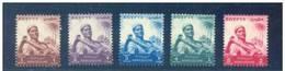 EGYPT  1954  SG 495-9  AGRICULTURE  MNH  VF - Egypt
