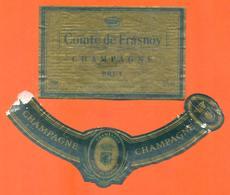 étiquette + Collerette De Champagne Brut Comte De Frasnoy à Congy - 75 Cl - Champagne