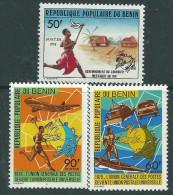 Bénin  N° 434 / 36 X  En 1878 L'Union Générale Des Postes Devient L'U.P.U., Les 3 Valeurs  Trace De Charnière Sinon TB - Bénin – Dahomey (1960-...)