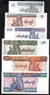 Myanmar Birmania 1, 5, 10, 20, 50, 100 Kyat 1994-1997 UNC FdS - 6x Pcs Set - Myanmar