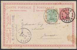 9be.Postcard . Passed Mail In 1920 Mons Jemappes  Belgium. - België