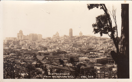 B&W RPPC - Real Photo - Vintage - San Francisco California From Telegraph Hill - Written In 1942 - 2 Scans - San Francisco
