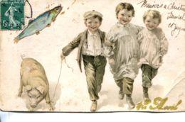 N°70116 -cpa Illustrateur -cochon- - Cochons
