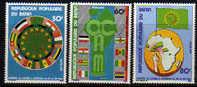 Bénin N° 438 / 40  X Sommet De L'O.C.A.M. (Organisation Commune Africaine Et Malgache)  Trace De Charnière Sinon TB - Bénin – Dahomey (1960-...)