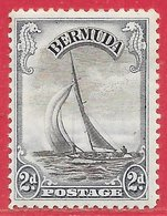 Bermudes N°95 2p Bleu & Noir 1936 * - Bermuda