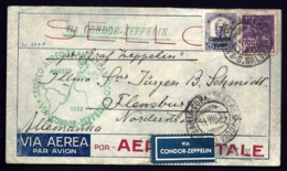POSTE AÉRIENNE PAR GRAF ZEPPELIN VIA CONDOR 1933- 4 Eme VOYAGE RETOUR BRESIL LE 11-8-33- 2 SCANS - Luchtpost