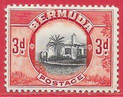 Bermudes N°97 3p Rouge & Noir 1936 * - Bermudes