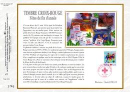 """"""" CROIX-ROUGE 2000 :  AVION EN BOIS AVEC PILOTE ..."""" Sur Feuillet CEF N°té En SOIE N° 1525s N° YT 3362 Parfait état FDC - Croix-Rouge"""
