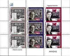 Albania Stamps 2018. Historic Events: Literature; Wilson USA; Kosovo. Sheet MNH - Albania