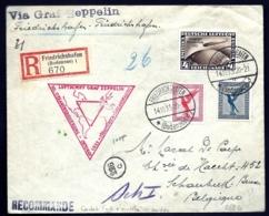 POSTE AÉRIENNE RECOMMANDÉE PAR GRAF ZEPPELIN 1933- 1er VOYAGE A CHICAGO PAR RIO- LE 14-10-33   - 2 SCANS - Airmail