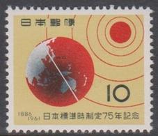 Japan SG873 1961 75th Anniversary Japanese Standard Time, Mint Never Hinged - 1926-89 Emperor Hirohito (Showa Era)